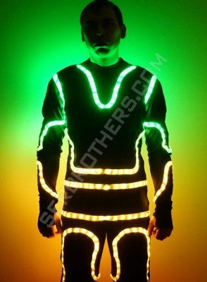 flyboard LED suit